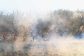 """""""Парящий"""" рыбак / Морозы и туманы февраля"""