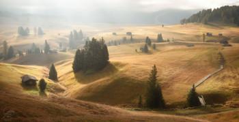 Альпийская деревушка / Доломиты, Доломиты