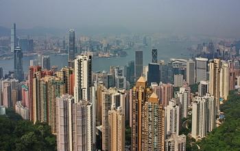 Гонконг / Вид с пика Виктория.