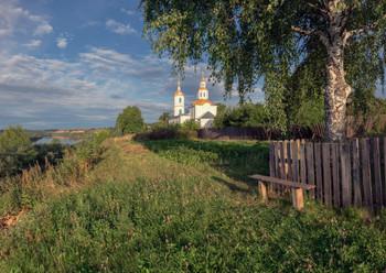 Утро в селе Юрьево / Старинное село Юрьево, Котельничский район.