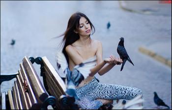 Любовь и голуби © /