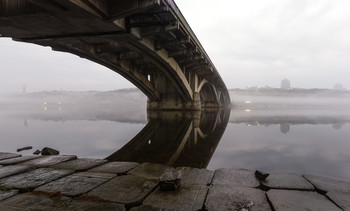 Перед рассветом / Киев, мост Метро