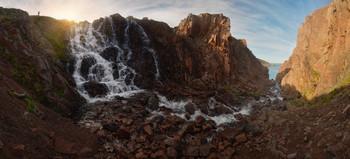 Батарейский водопад / Баренцево море, Териберка