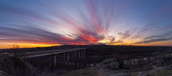 Закат на Южном Буге / р.Южный Буг