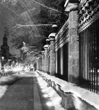 / Снега, холодные снега. Всю землю снегом завалило. То птицей белою пурга Всю ночь над городом кружила....