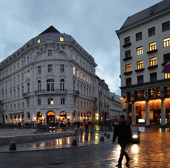 Прогулки по вечерней Вене в дождь... / Прогулки по вечерней Вене в дождь...