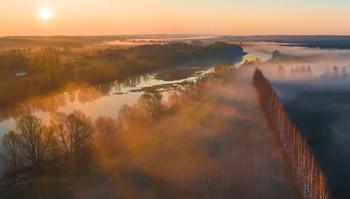 Река Красивая Меча / Туманный рассвет. Когда называние реки говорит само за себя.  Конец апрель, 2021 год. Лебедянский район, Липецкая область.