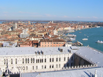 / view from the bell tower of San Marco