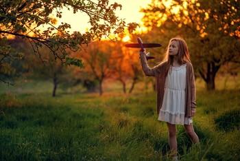 Самолётик / модель Ангелина Табакова платье предоставлено фотостудией «Косплей»