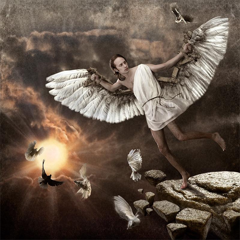 летающий человек с крыльями картинки кусты