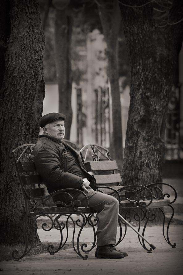 ретро фото об одиночестве при