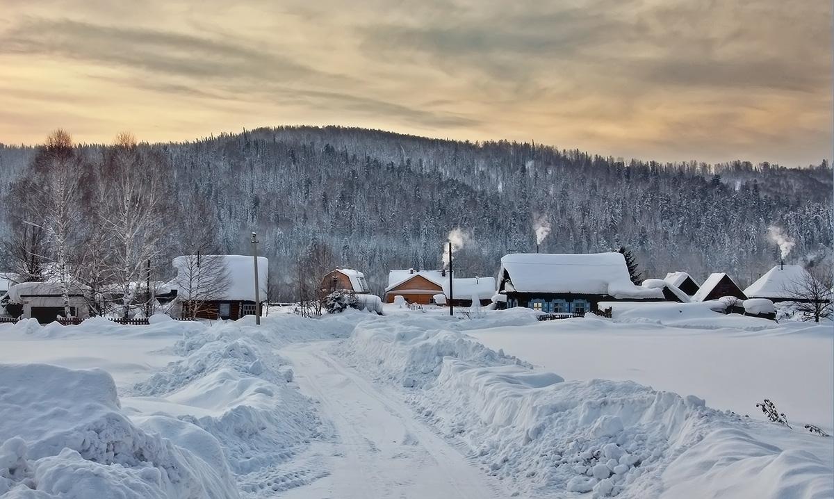 Зима в облучье фото