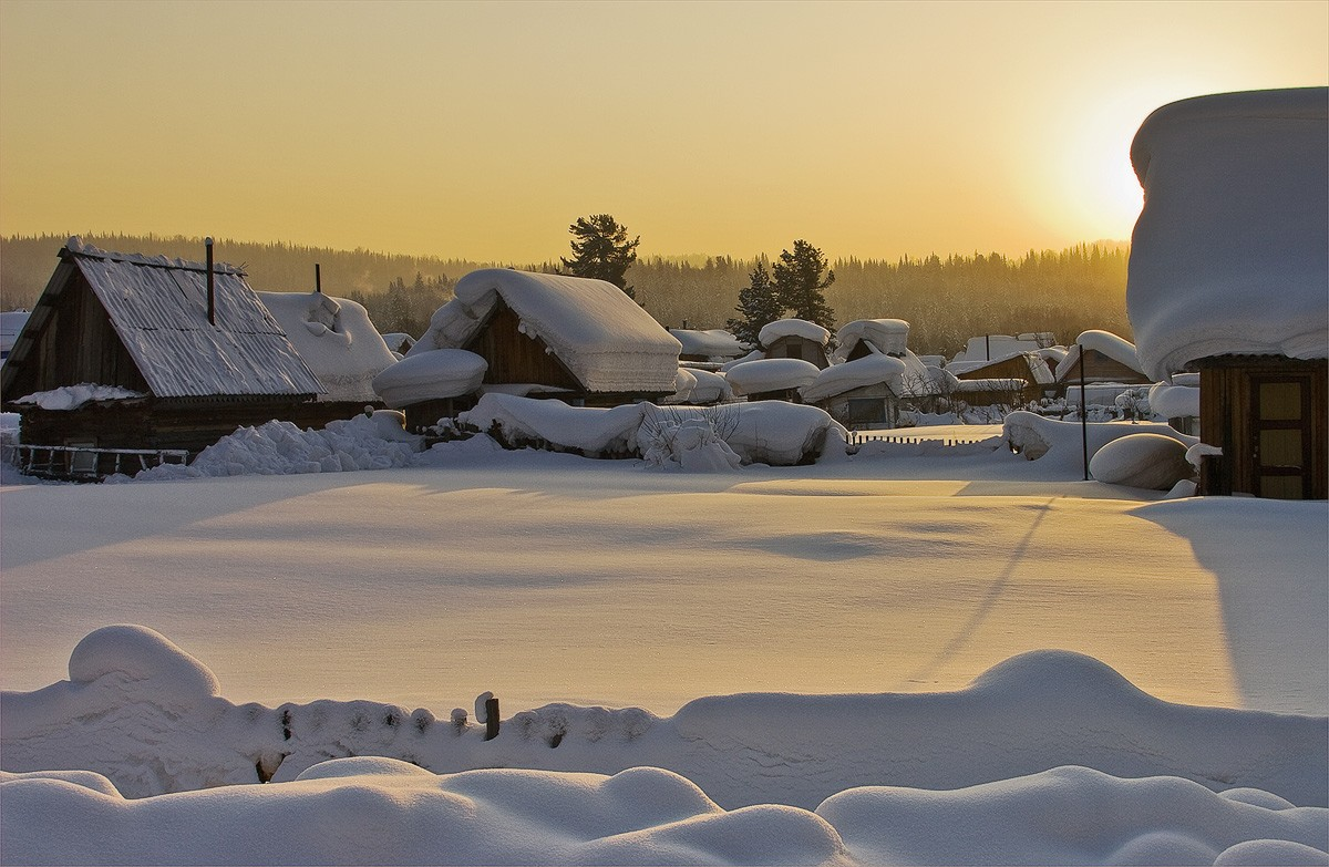 зимний пейзаж в деревне фото стоит бояться