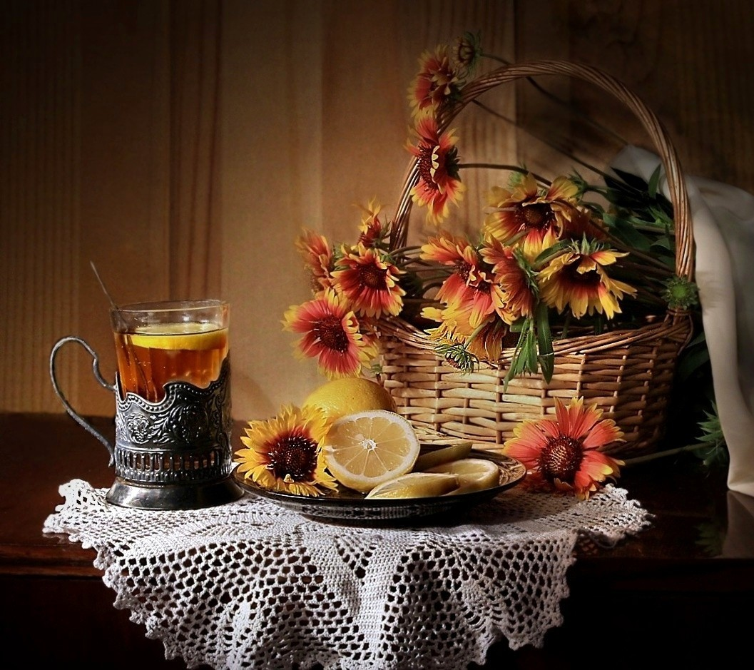 Картинки чай цветы осень многих