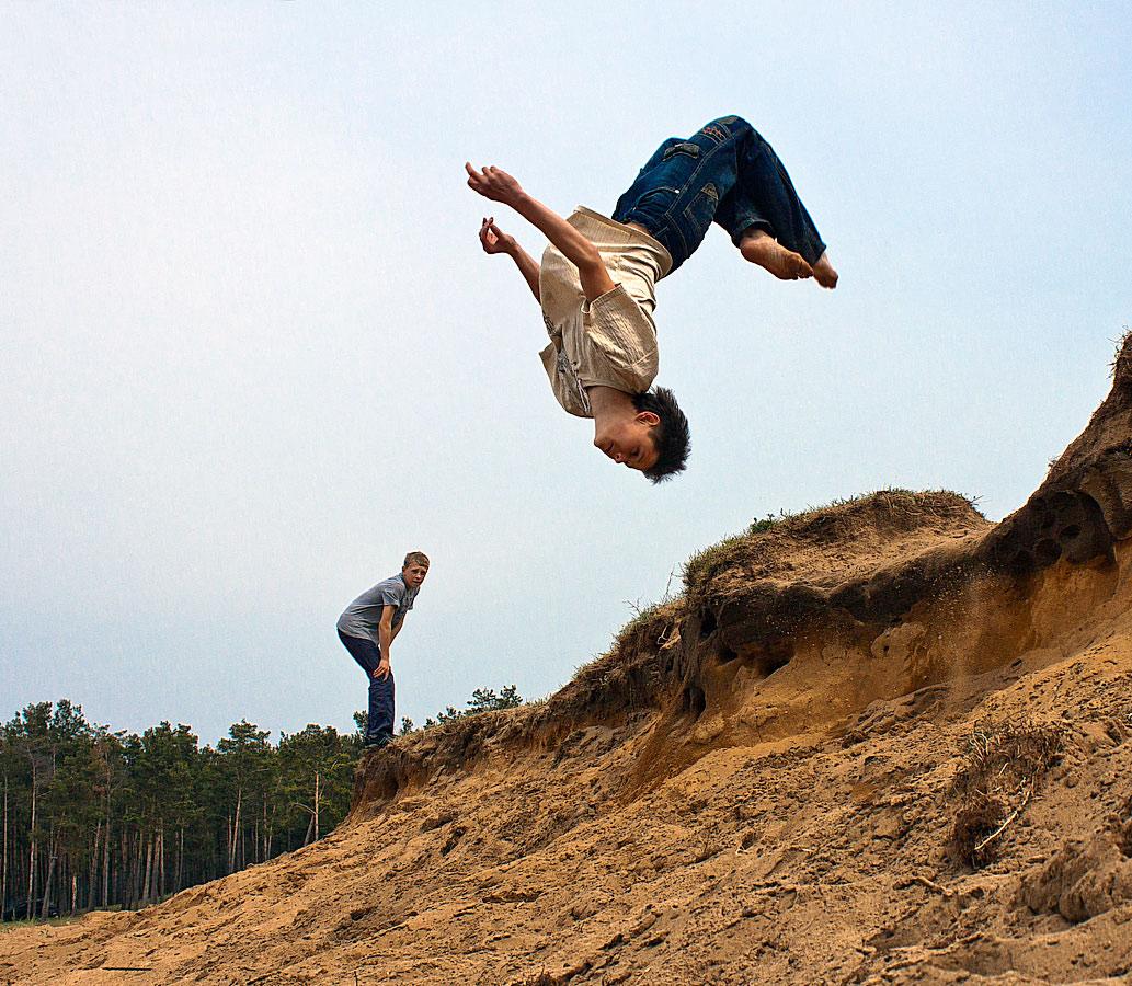 Как делают фото прыжков