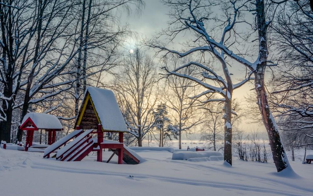 Фото море зимой рассвет потому