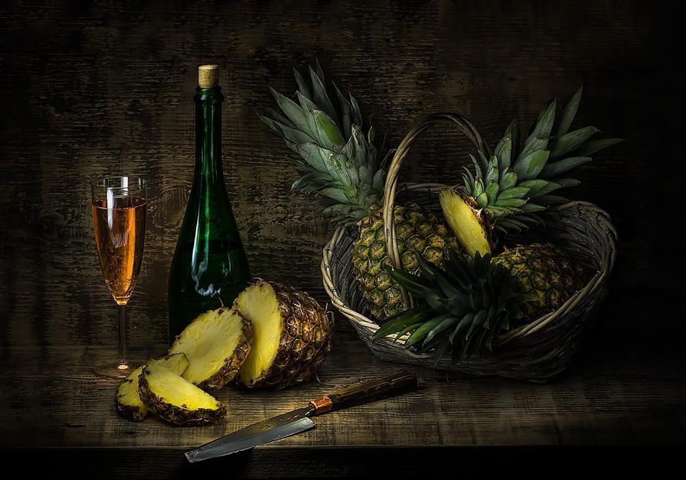 Ананасы и шампанское картинки