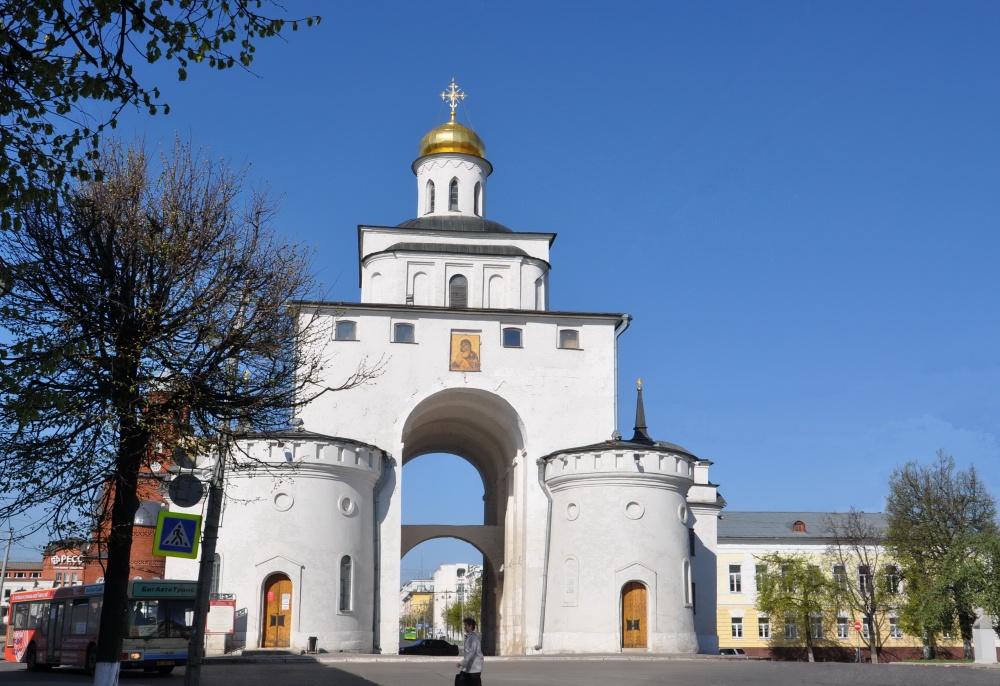картинка золотые ворота владимир пруд