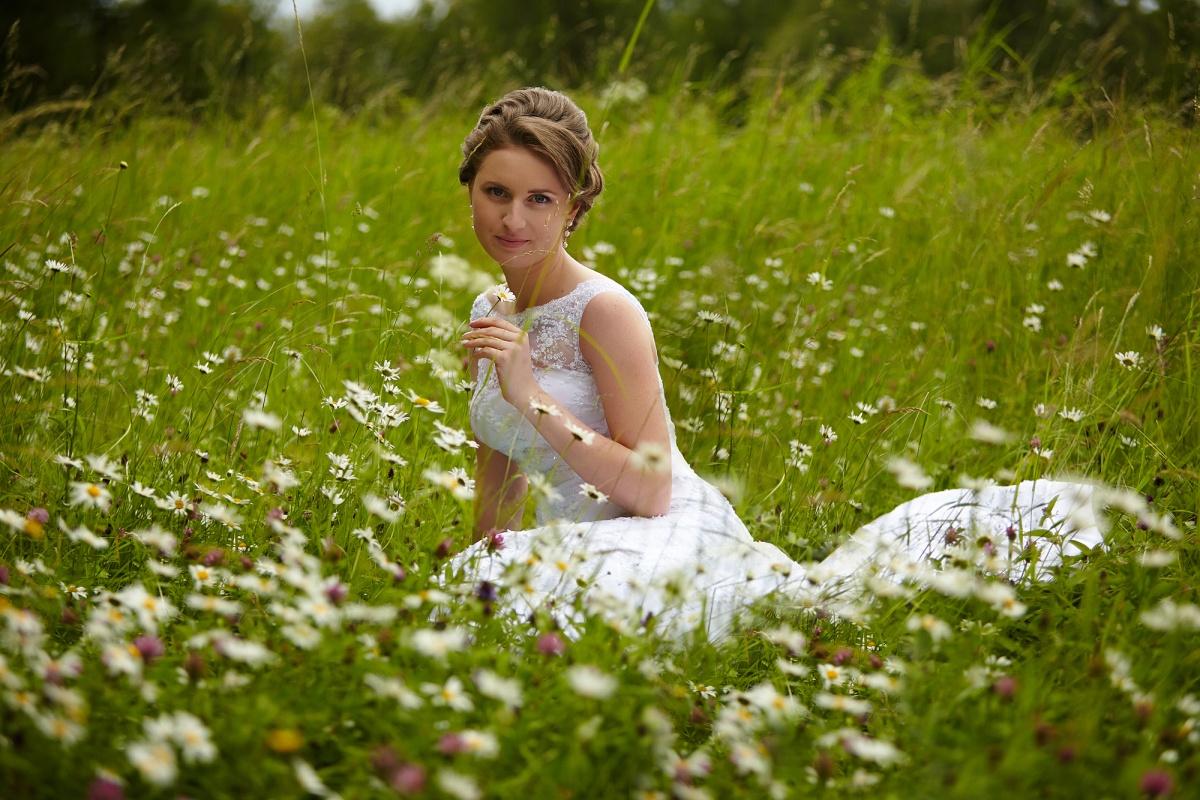 Невеста на природе