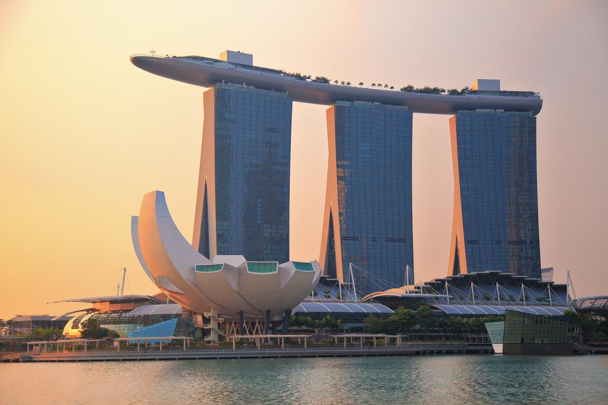 сингапур фото отеля с бассейном на крыше довольно протяженный парк