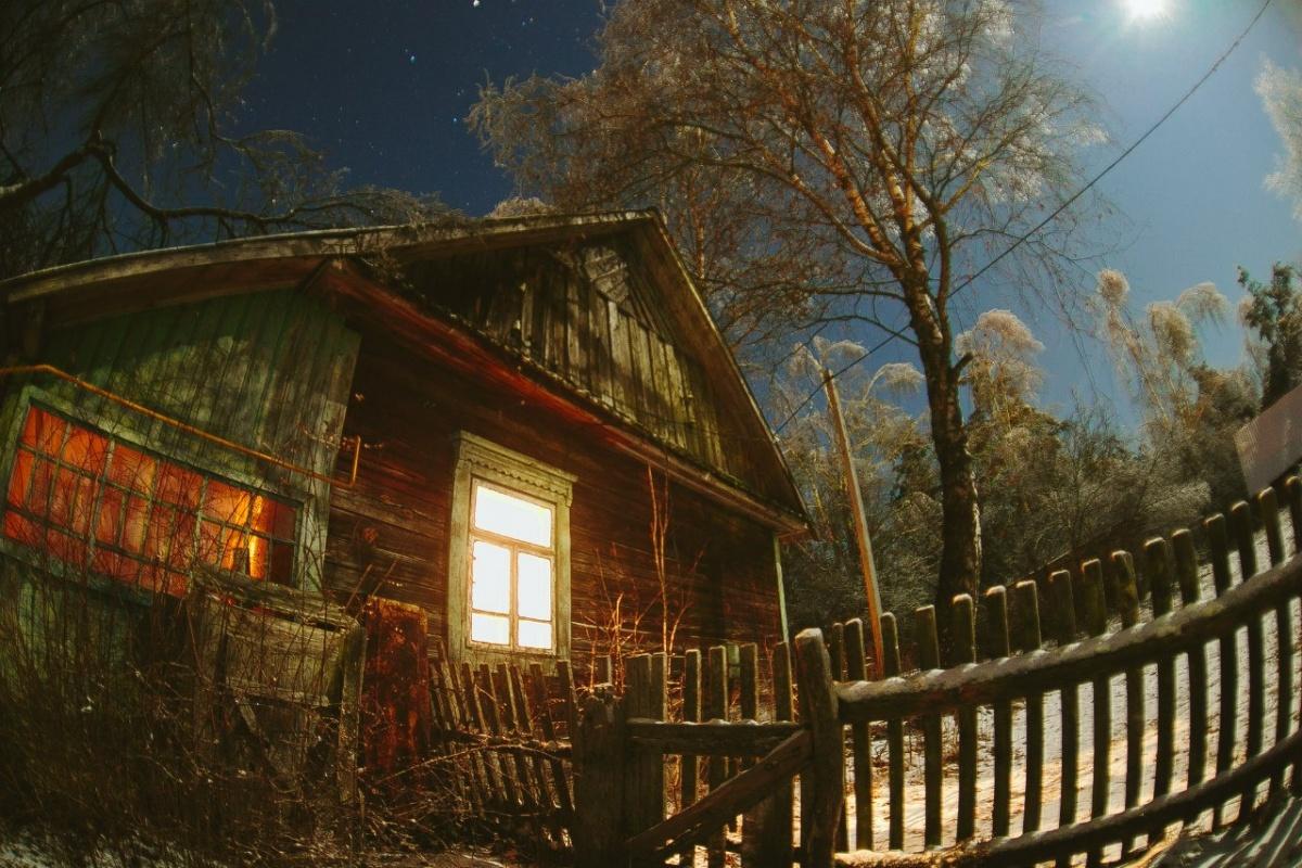 картинки деревенского дома вечером просто обожает представляет