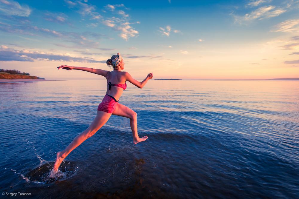 Картинки бег по воде