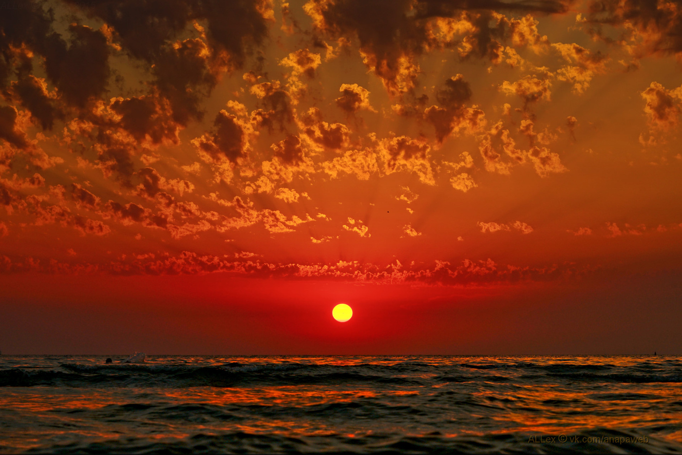 Открытки закат солнца на море
