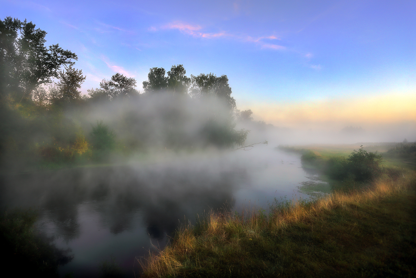 картинки туманы августа вечером