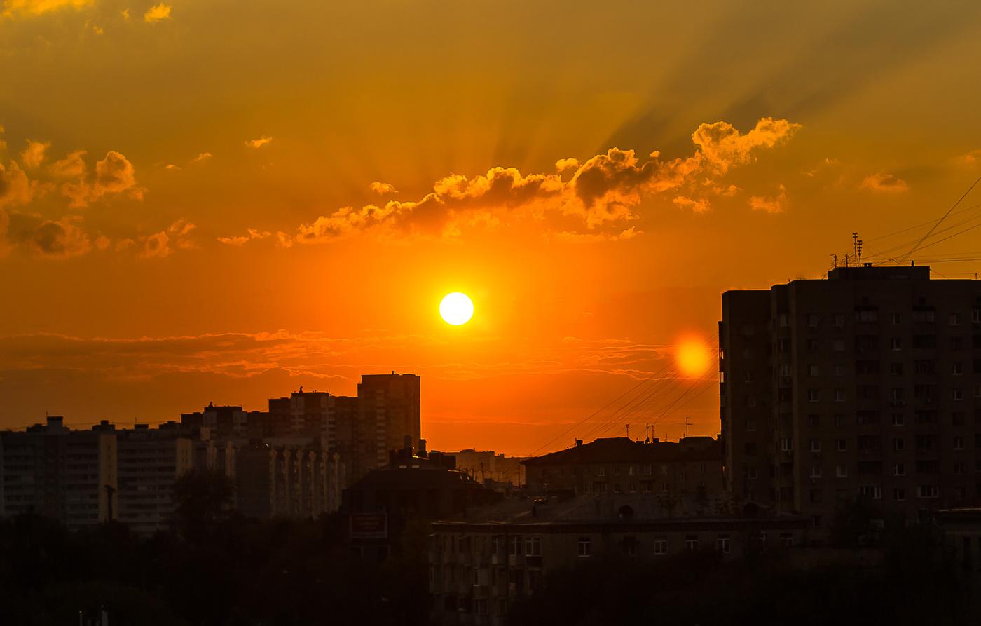 картинки заката и рассвета над городом фотографиях социальной сети