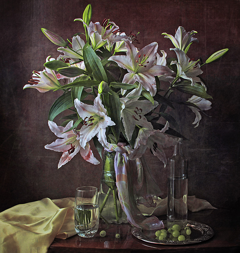 художественные фото цветы лилии шуб шиншиллы