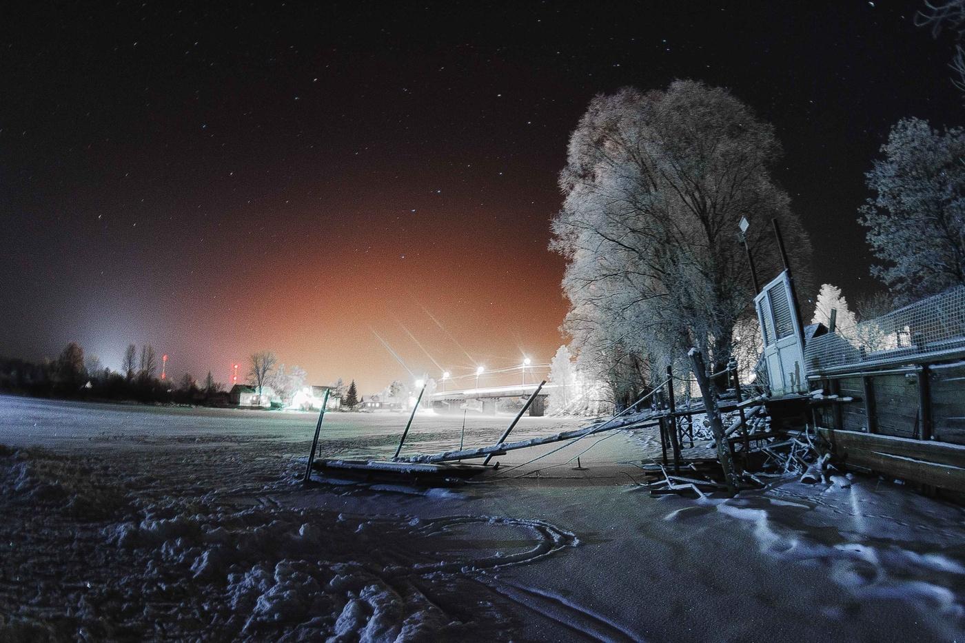 Мороз картинки ночью