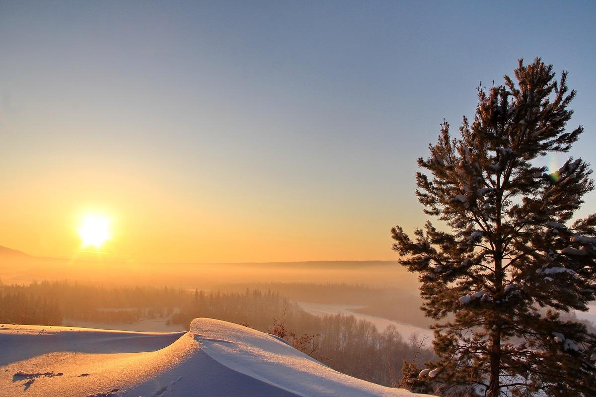 Фото зимнего солнца