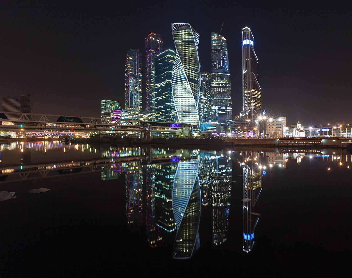 Фото москва сити ночь осень