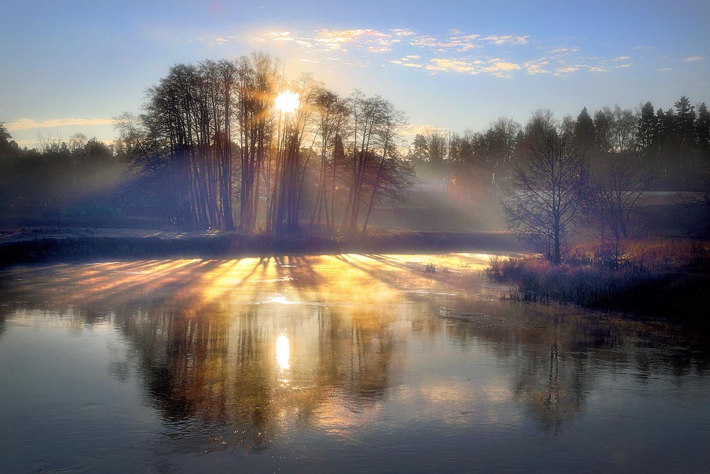 Утро весна рассвет картинки