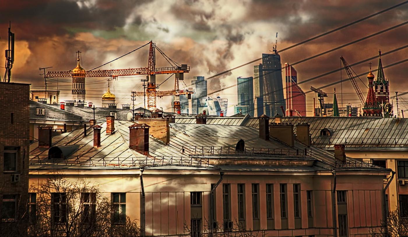 Старые московские крыши фото