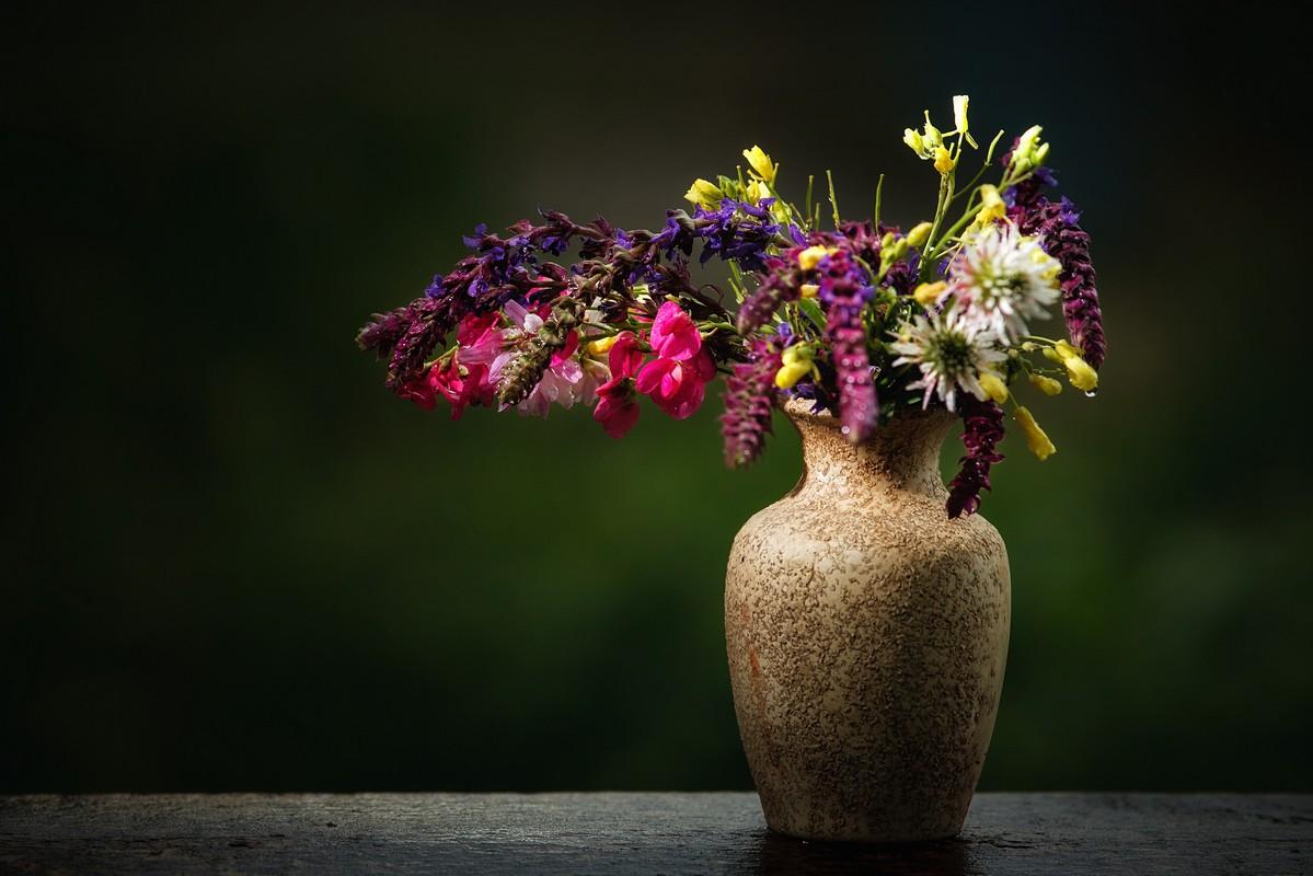 светлая, цветы лета в вазах картинки этом уроке будем