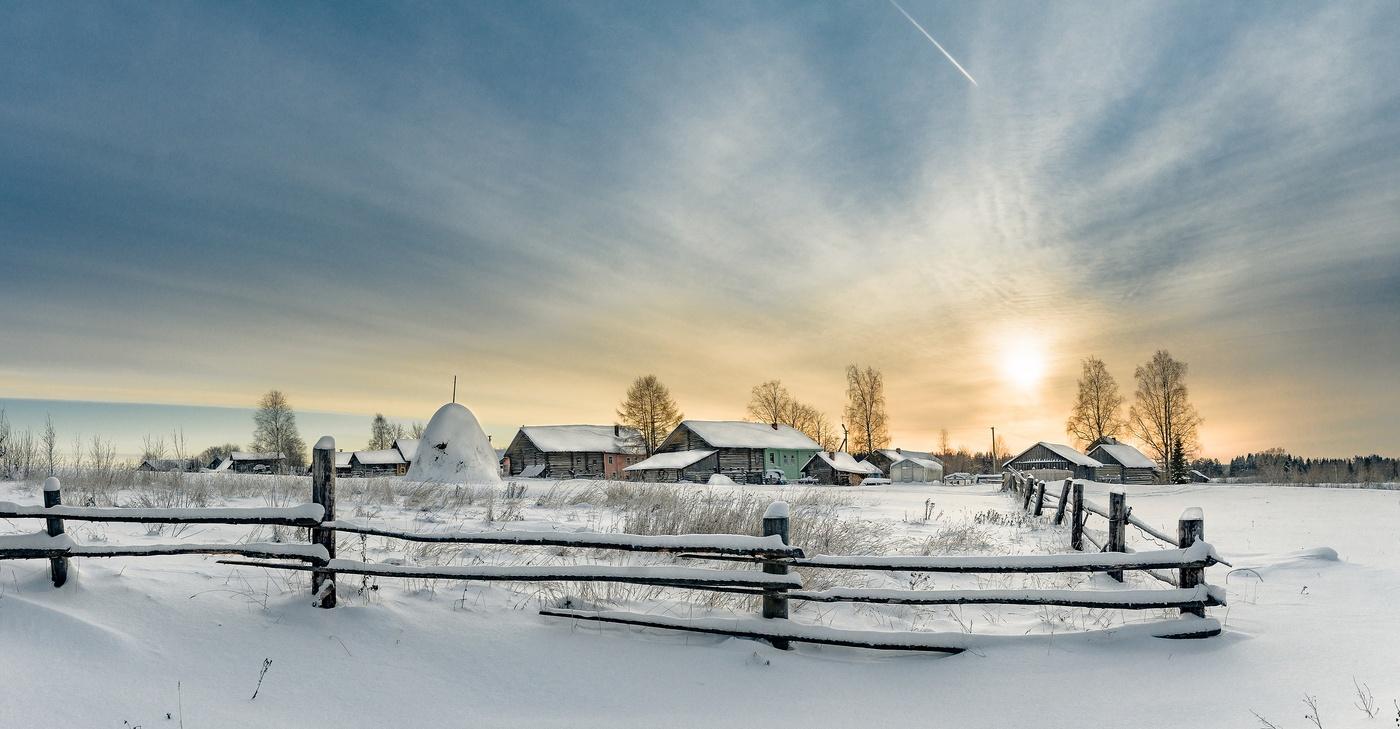 такой вид зима в селе пейзаж фото самые интересные