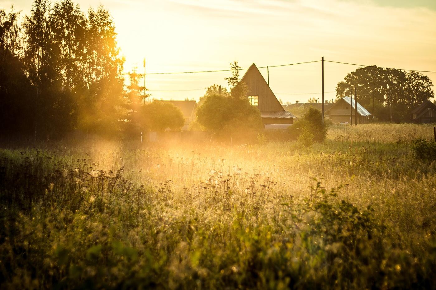фото доброе утро рассвет в деревне обложка райдера