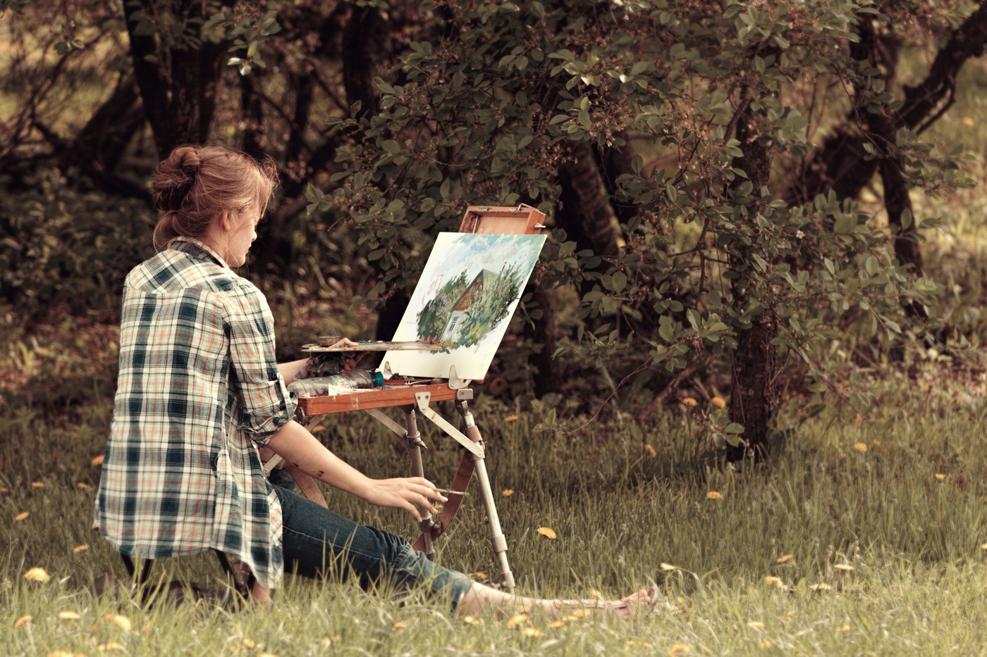 картинка художник на природе создать образ