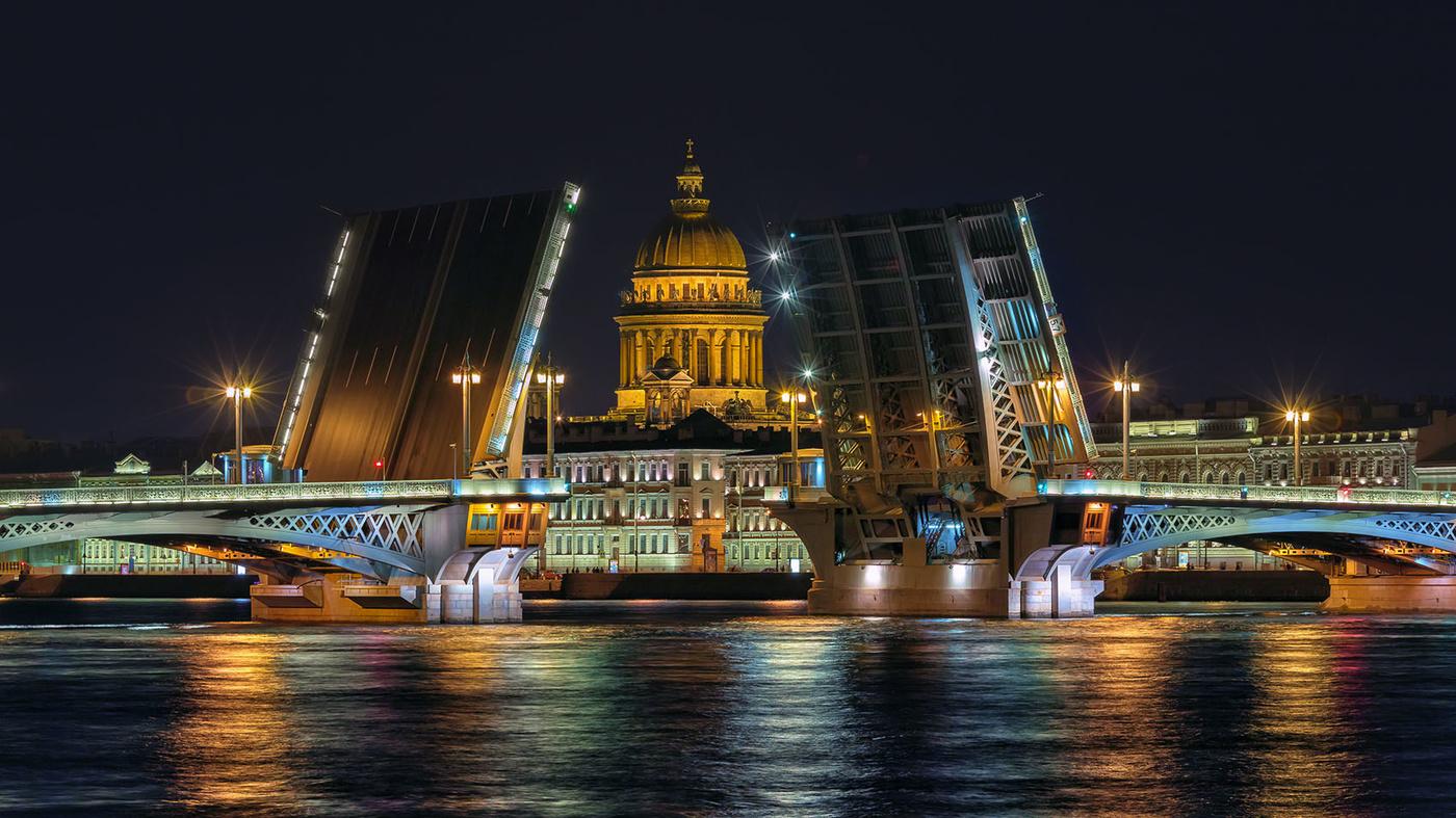 картинка мост благовещенский мост идет графику