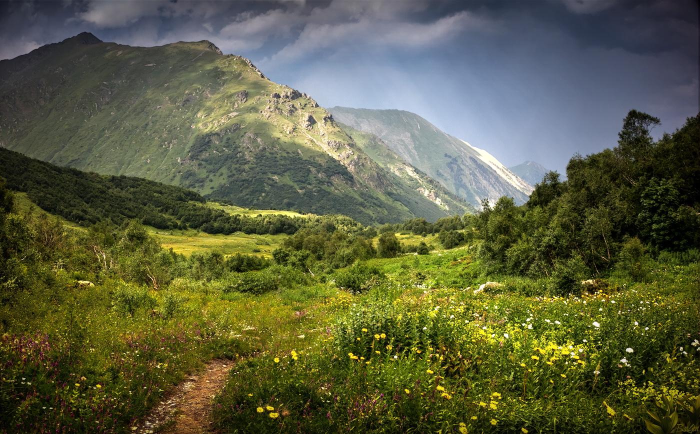 Картинка горы кавказа, анимационные