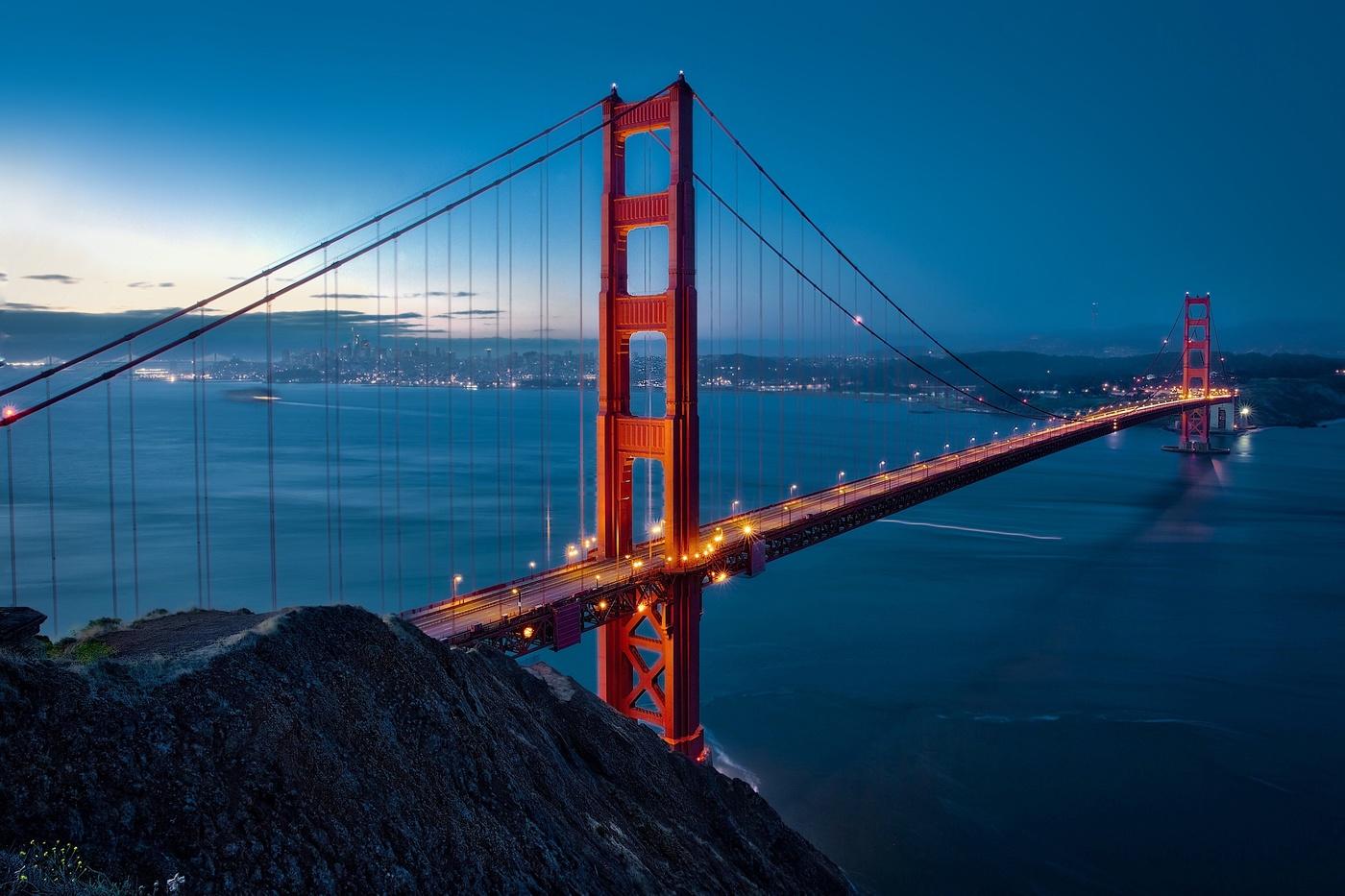 фото с моста в сан франциско них