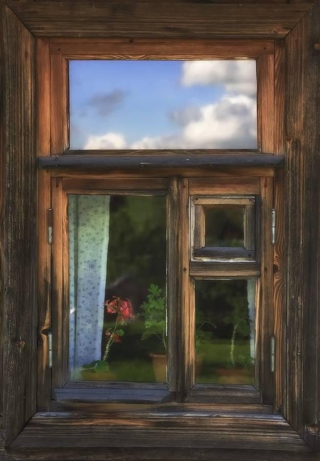 Картинки окно деревенское