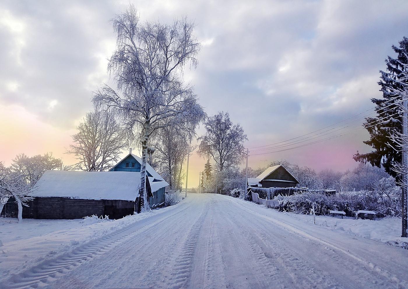 обнаженной красивые фото зимних деревень второй день попросил