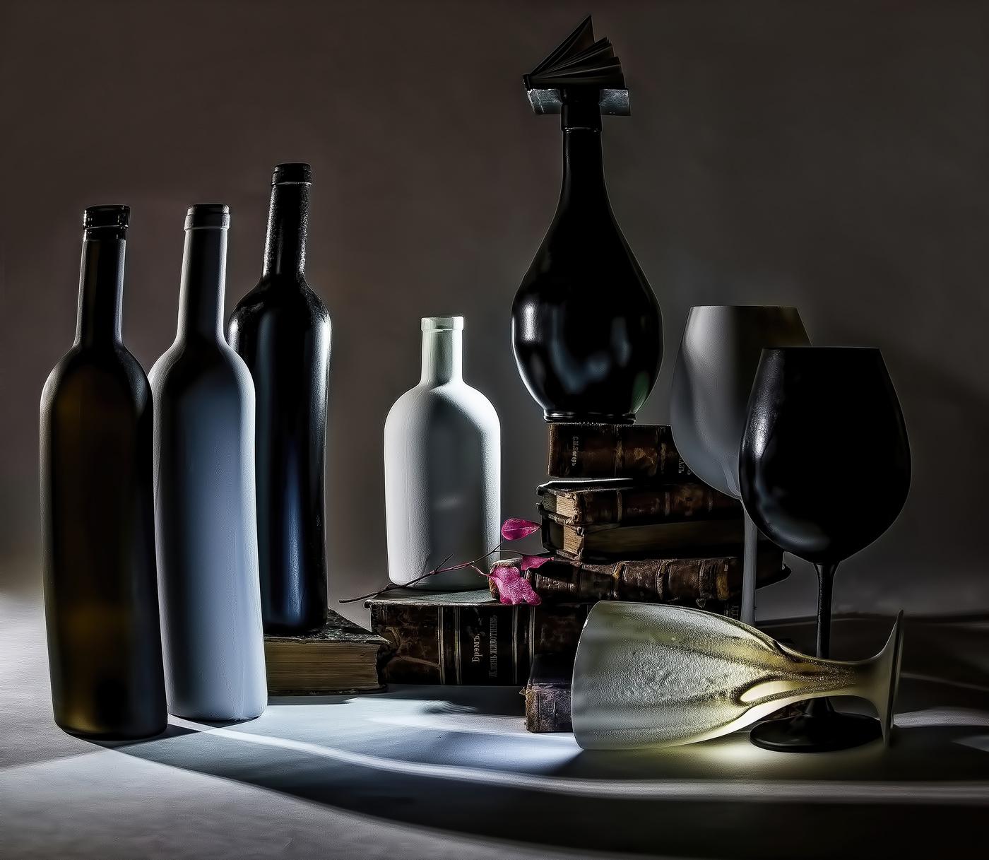 картинки с натюрмортами с бутылками его
