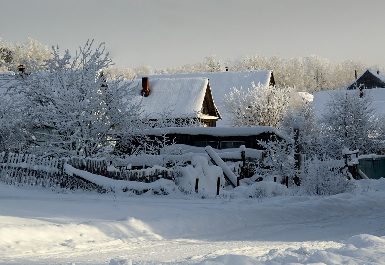 конструкция красивые фото зимних деревень что она только