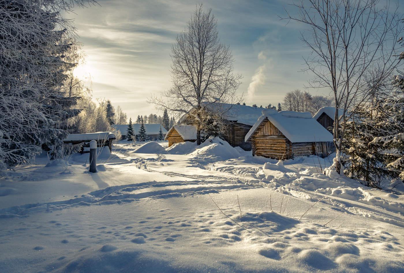 День села, картинки зима в деревне