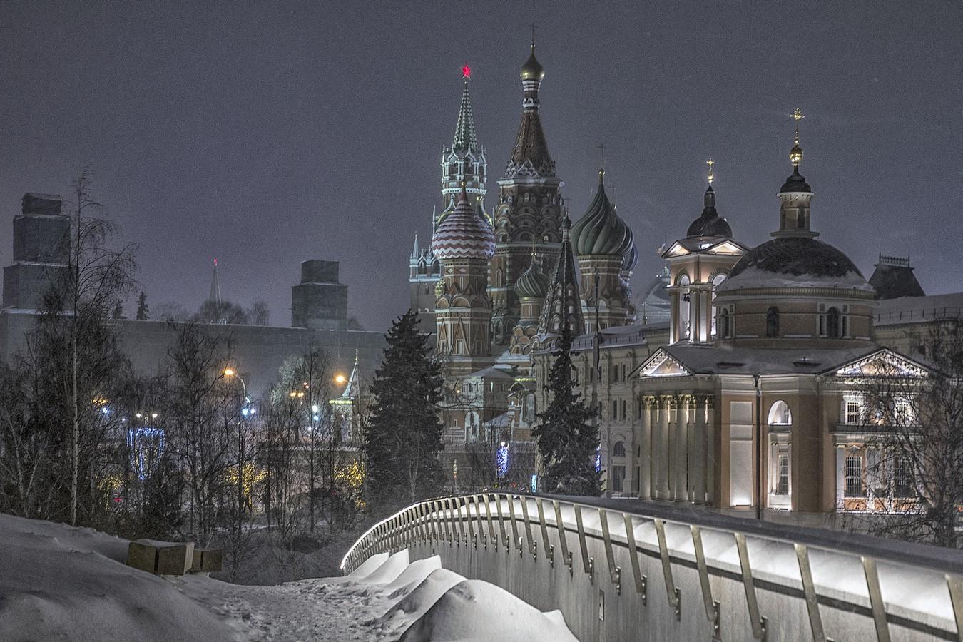 картинка зимней москвы