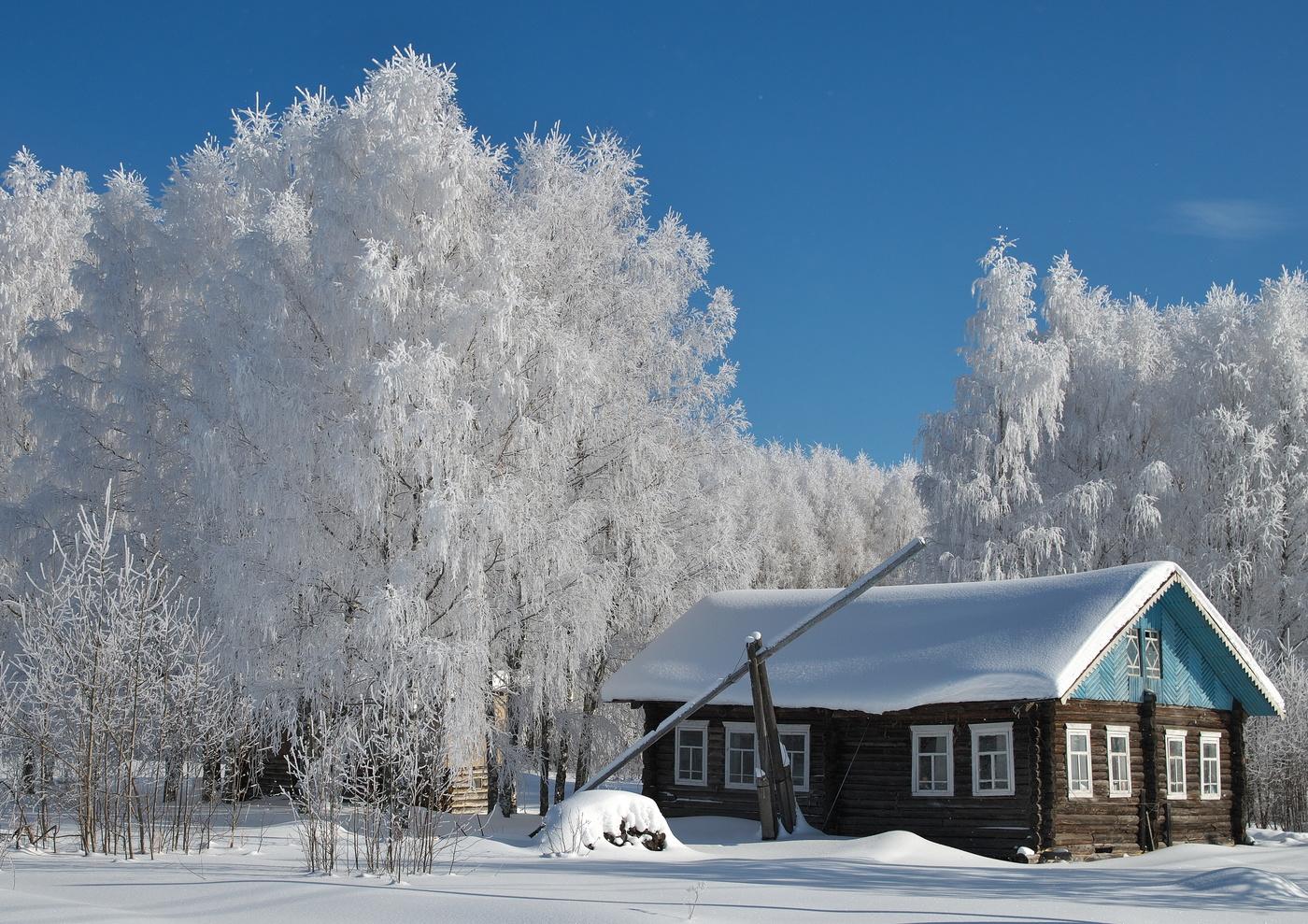 комфортный картинки зимнего утра в деревне известна, она