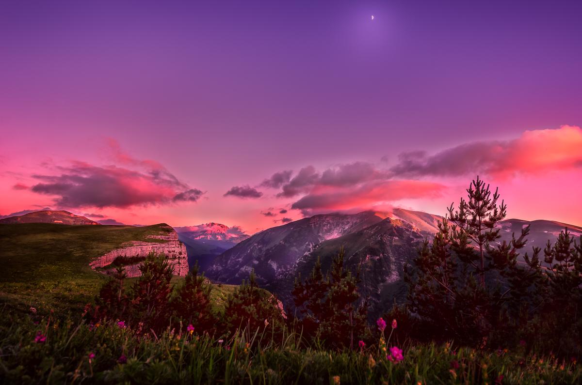 вечер в горах картинки остров картинки